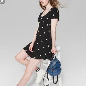 Wild Fable black polka dot dress